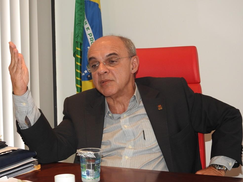 Entrevista Eduardo Bandeira de Mello presidente Flamengo (Foto: Fred Gomes)