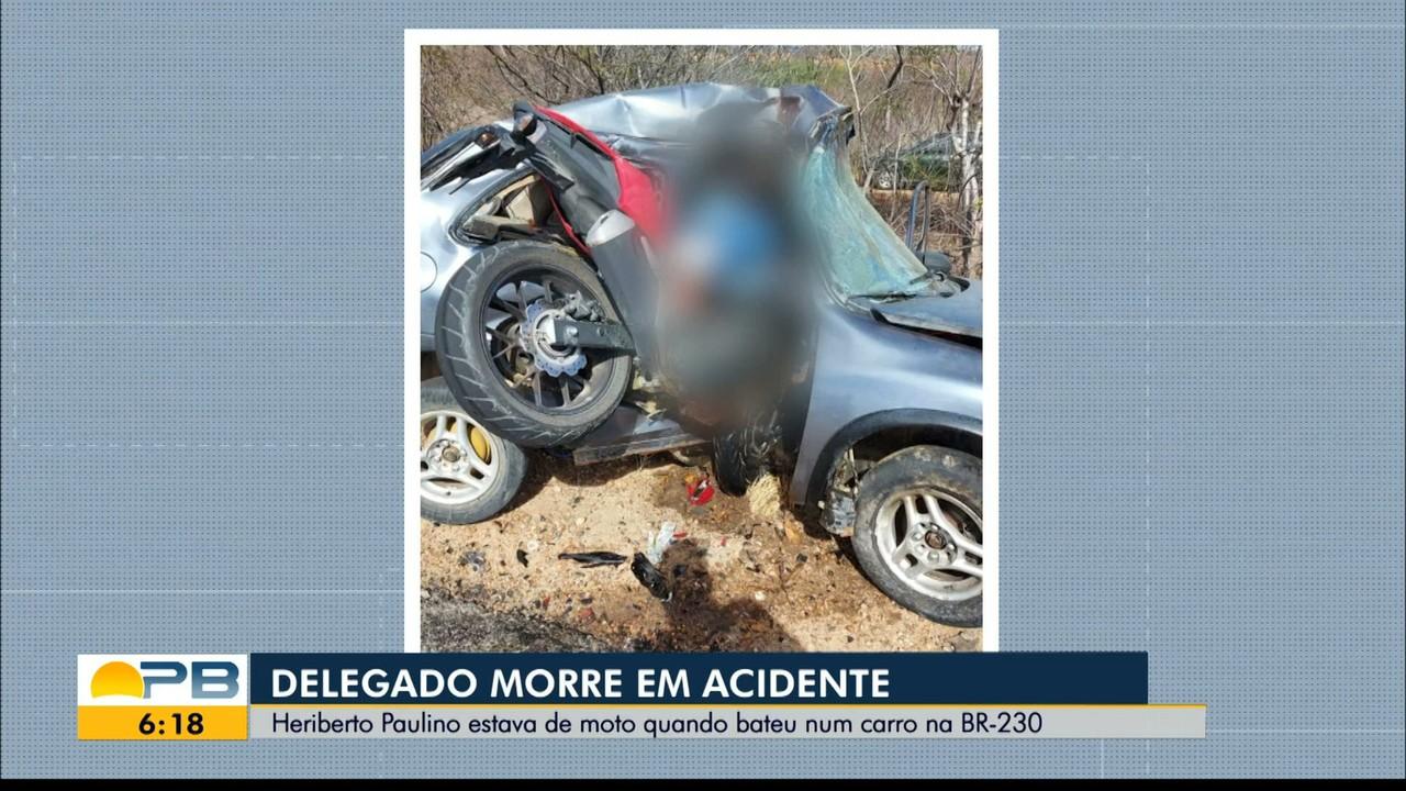 Delegado Heriberto Paulino morre em grave acidente, em Juazeirinho, PB