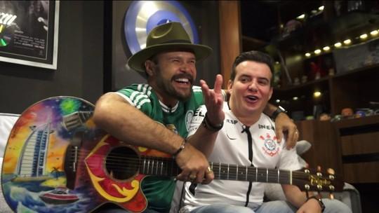 Marcos e Belutti duelam num Palmeiras x Corinthians musical
