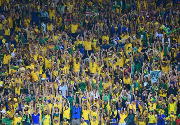 Torcida do Brasil na Copa do Mundo (Foto: Getty Images)