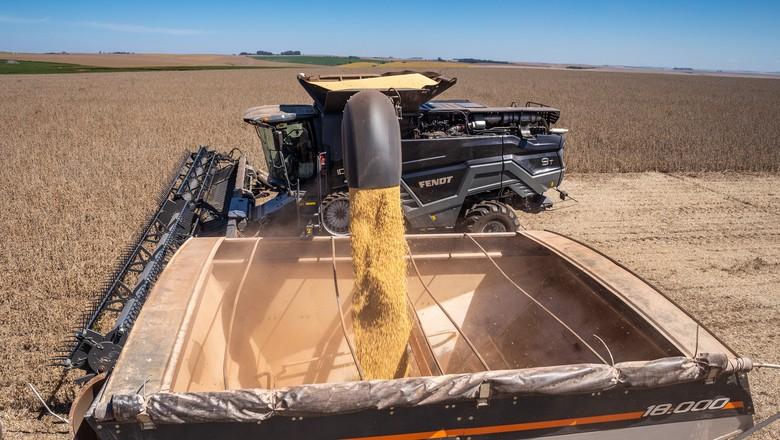 colheita-fendt--colheitadeira-maquinas-soja (Foto: Divulgação)