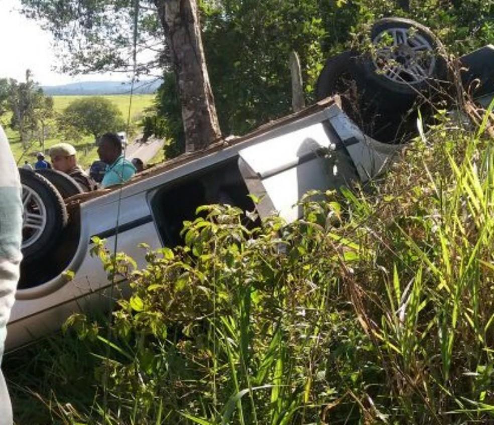 Acidente ocorreu na região de Amargosa (Foto: Fábio Santos/Site Voz da Bahia)