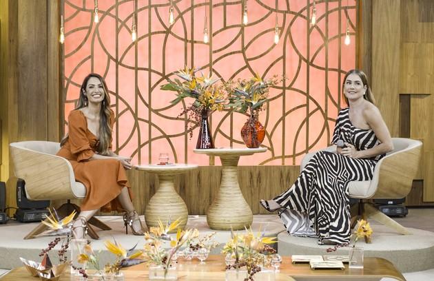 Alexia será recebida no programa 'Encontro' por Patricia Poeta. Lá, ela ficará sabendo que irá retomar o papel de protagonista da novela 'O Preço da Felicidade' (Foto: TV Globo)