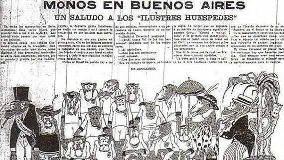 Ofensas racistas contra a seleção brasileira no jornal argentino 'La crítica' em 1920