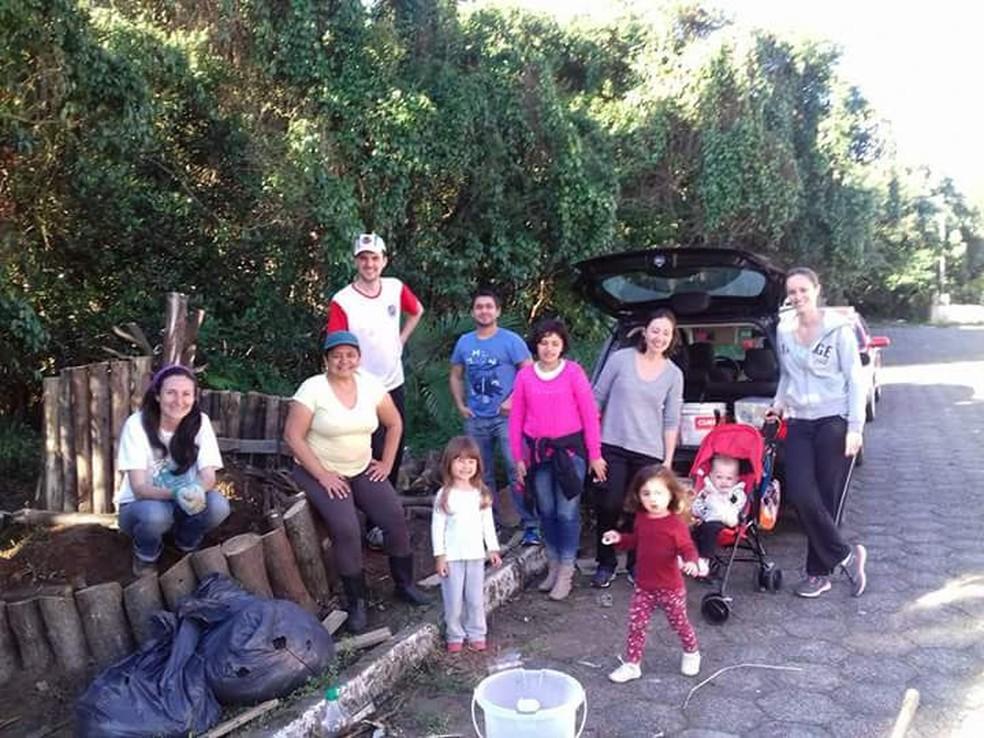 Voluntários participam do projeto (Foto: Martha Batista Lima/Arquivo pessoal)