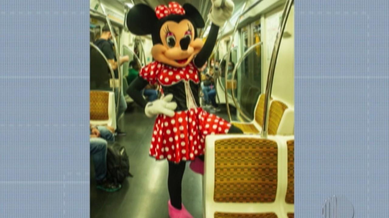 Prejudicada pela pandemia, animadora de festas vira 'Minnie Mouse' nas ruas de Suzano para levantar renda