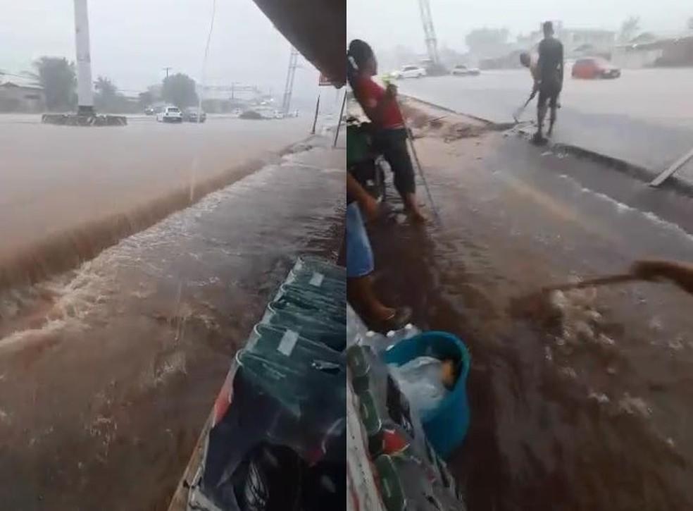 Chuvas em Macapá no domingo (22), durante apagão no Amapá — Foto: Reprodução