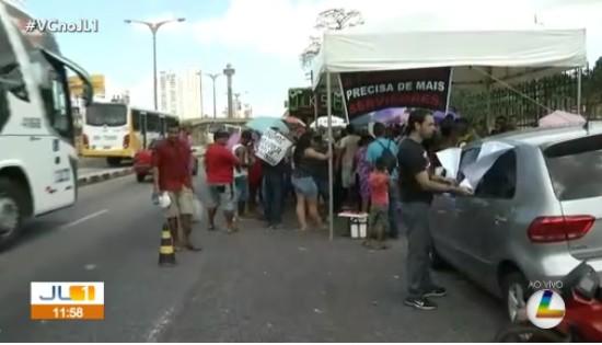 Manifestantes fecham av. Almirante Barroso na manhã desta terça-feira - Notícias - Plantão Diário