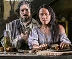 Guilherme Piva e Vivianne Pasmanter como Licurgo e Germana em 'Novo mundo' | TV Globo