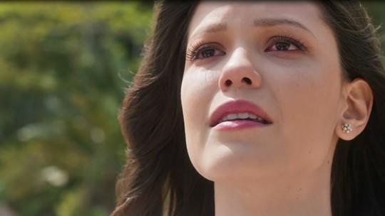 'Tempo de Amar': Maria Vitória canta em homenagem a Inácio, no mesmo dia do casamento dele com Lucinda