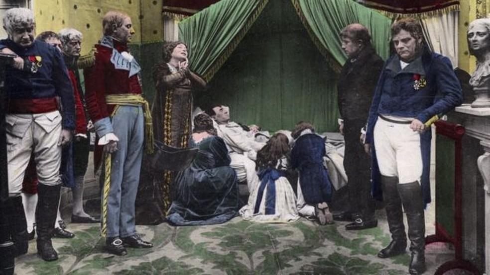 Napoleão Bonaparte morreu em 5 de maio de 1821 em Santa Helena, conta a história. Mas qual foi a causa? — Foto: Getty Images/BBC