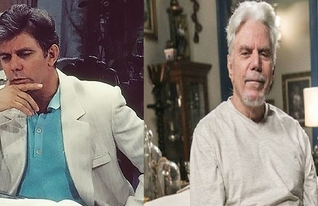 Reginaldo Faria, que participou recentemente de 'Espelho da vida', viveu André Spina, viúvo que se torna o famoso estilista Jacques Léclair (Foto: TV Globo)