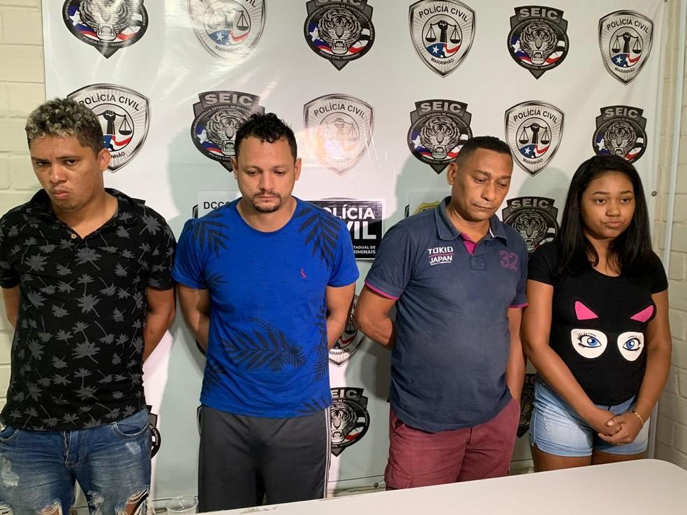 Suspeitos de participar da facção criminosa foram presos durante a Operação Tiro Certo — Foto: Divulgação/Polícia