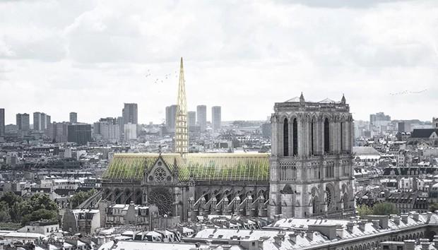 Notre-Dame: escritório de design propõe estufa educativa no telhado