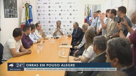 Prefeitura assina contrato de R$ 15,9 milhões para obras contra enchentes em Pouso Alegre, MG