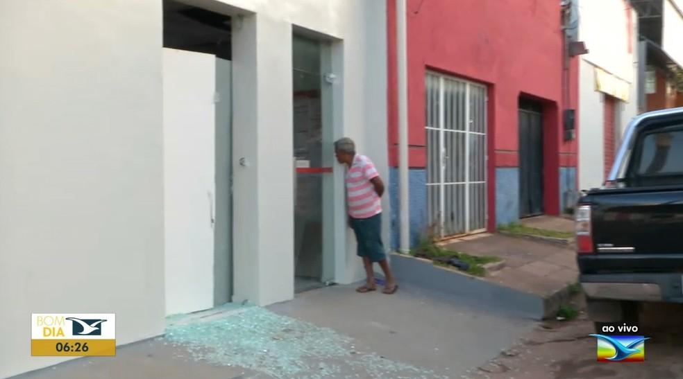 Agência bancária do Bradesco é a única existente na cidade de Senador Alexandre Costa — Foto: Reprodução/TV Mirante