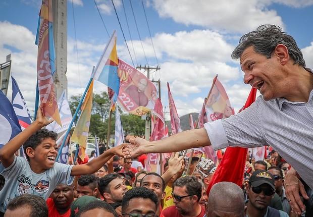 Fernando Haddad faz campanha em Jequié, Bahia (Foto: Ricardo Stuckert/Fotos Públicas)