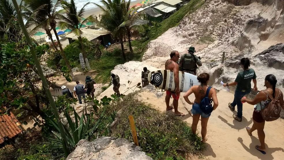 Áreas de falésias são preservadas por lei (Foto: Divulgação/ Cipam)