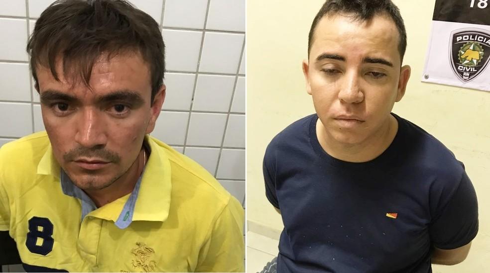 Kleyton Alves da Silva e o taxista Diego Edicleilton Marcelino de Castro (Foto: PM/Divulgação)