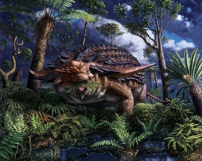 Fóssil de dinossauro bem preservado  revela refeição de 110 milhões de anos