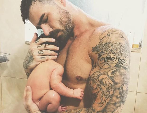 Rodrigão com a filha (Foto: Reprodução Instagram)