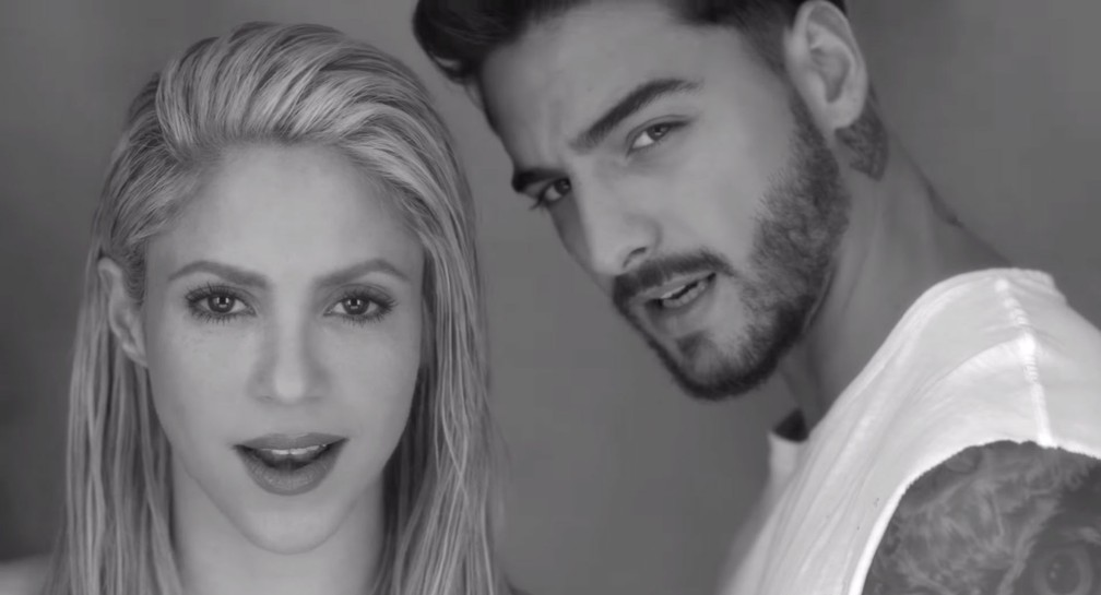 Shakira e Maluma cantam 'Trap' em clipe (Foto: Reprodução/YouTube/shakiraVEVO)