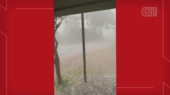Chuva de granizo causa estragos em Vacaria, diz Defesa Civil