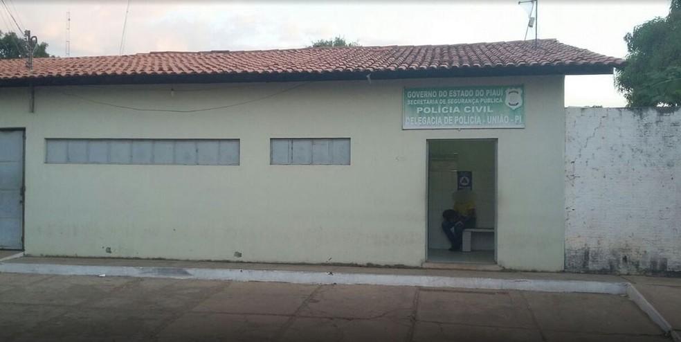 Sede da delegacia de Polícia Civil em União, no interior do Piauí  — Foto: Washington Franklin/TV Clube