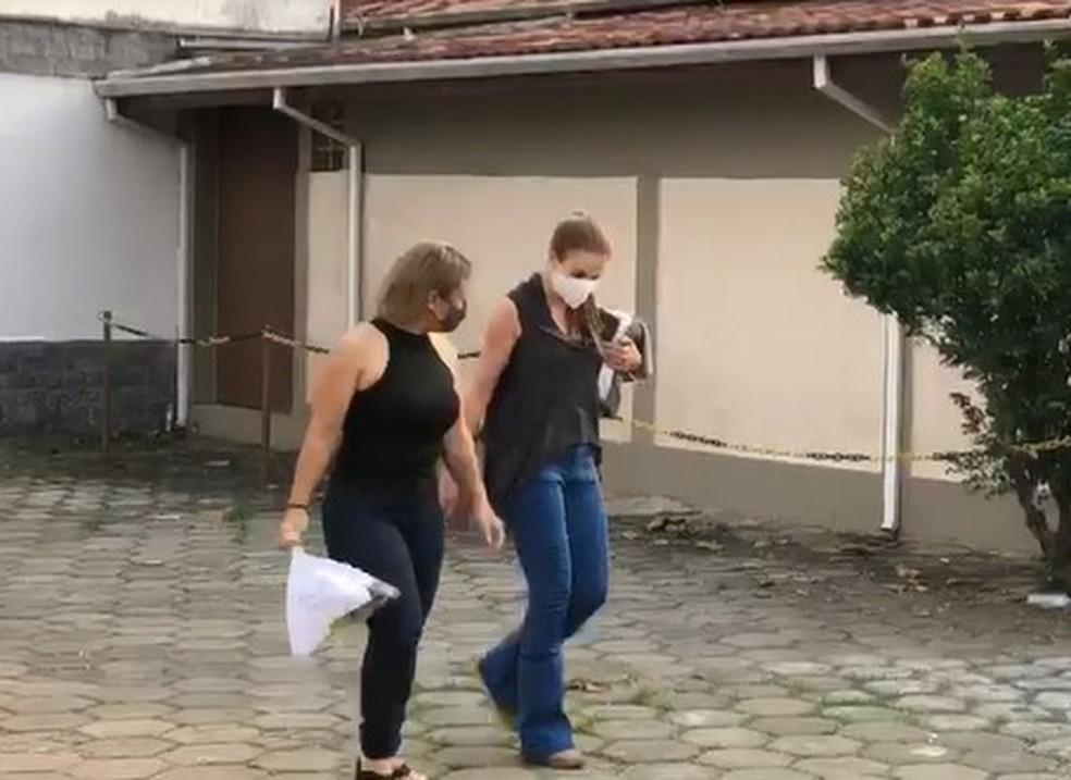 Suzane deixa penitenciária em Tremembé para saída temporária — Foto: Raíssa Santos/TV Vanguarda