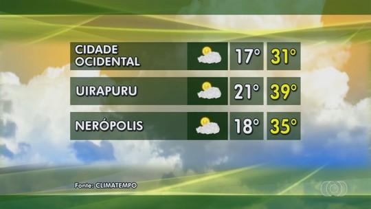 Confira como fica o tempo em Nerópolis e Cidade Ocidental