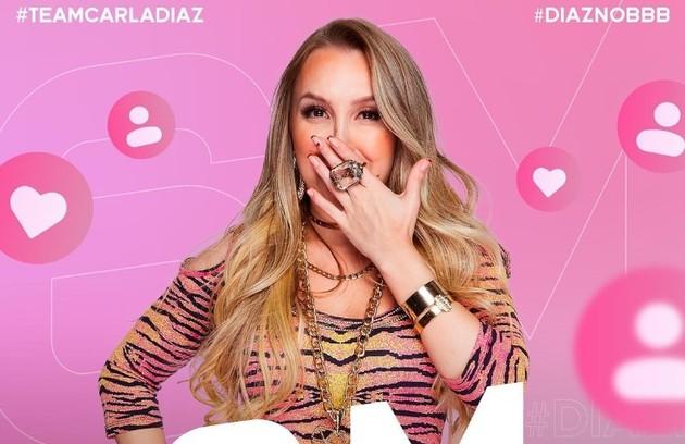 Com uma carreira de mais de 20 anos, Carla Diaz entrou no 'BBB' com 2,1 milhões de seguidores. Agora, já acumula 6,2. A atriz chegou a perder alguns milhares de seguidores quando deu o monstro a Gil e Lucas (Foto: Reprodução)