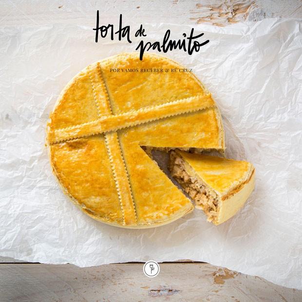 Receita: torta de palmito para toda hora (Foto: Vamos Receber / Arte Studio Mr Jobim)