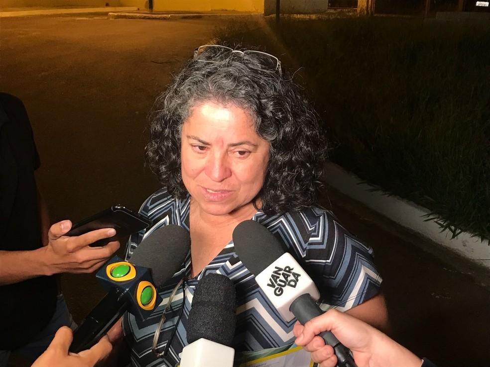 Maria Benedita Ferraz foi feita refém e liberada durante rebelião no CDP de Taubaté (Foto: Talita França/ Rede Vanguarda)