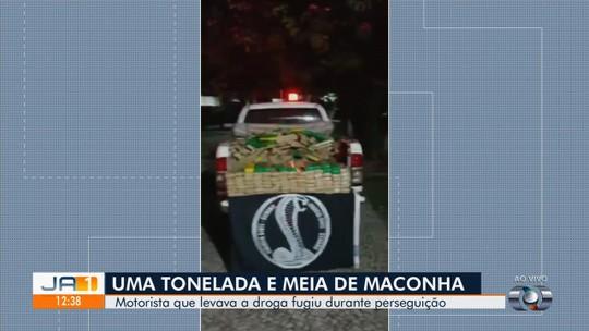 Polícia apreende 1,5 tonelada de maconha após perseguição a caminhonete entre Abadia de Goiás e Goiânia
