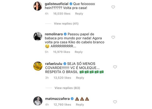 Artistas comentam pisão de Neymar  (Foto: Reprodução / Instagram)