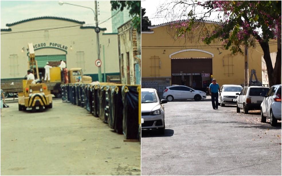 Rua 57 foi fechada na época do acidente (Foto: (Divulgação/ Cnem) (Paula Resende/ G1))