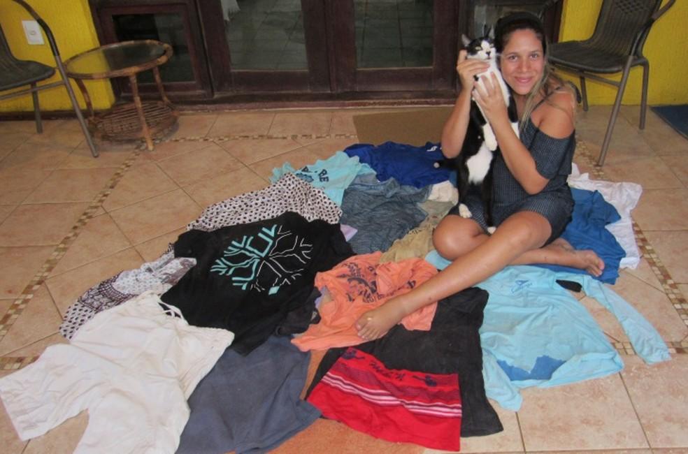 Beck, Andresa e os furtos do animal (Foto: Ana Clara Marinho/TV Globo)