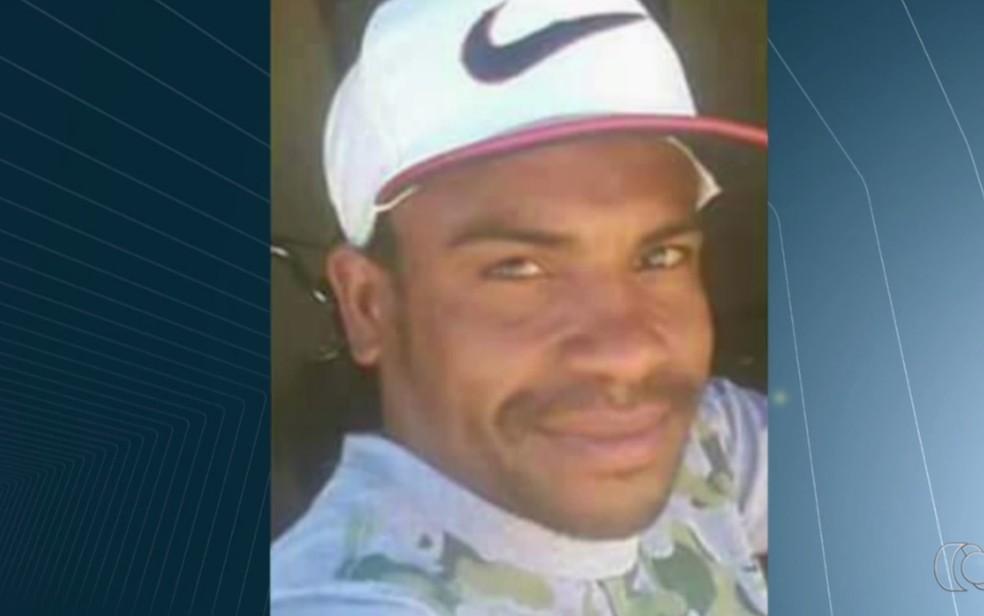 Ranolfo Júnior, 29, foi preso suspeito de matar a namorada em Aparecida de Goiânia (Foto: Reprodução/TV Anhanguera)