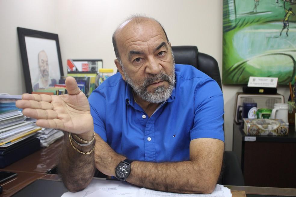 Cesarino Oliveira, presidente da FFP (Foto: Arthur Ribeiro/GloboEsporte.com )