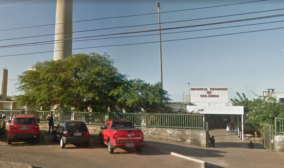 Fachada do Hospital Regional de Ceilândia, no Distrito Federal — Foto: TV Globo/Reprodução