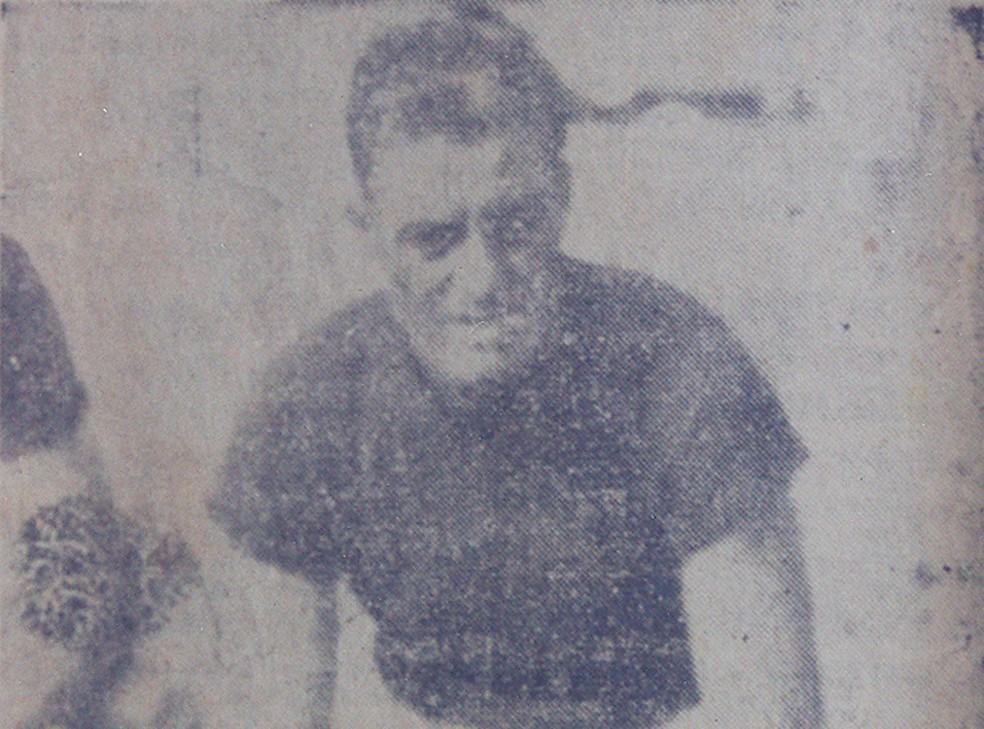 Além de goleiro do Remo durante o torneio de Caracas, Veliz se tornaria técnico do clube durante a década de 50 — Foto: Arquivo Pessoal/Ferreira da Costa