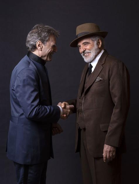 Herson Capri e Genézio de Barros em 'As Brasas' (Foto: Leonardo Aversa)