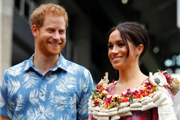 Príncipe Harry e Meghan Markle em Fiji (Foto: Getty Images)