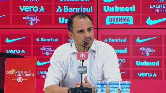 Executivo do Inter fala sobre procura por novo técnico e indica que interino seguirá contra o Avaí