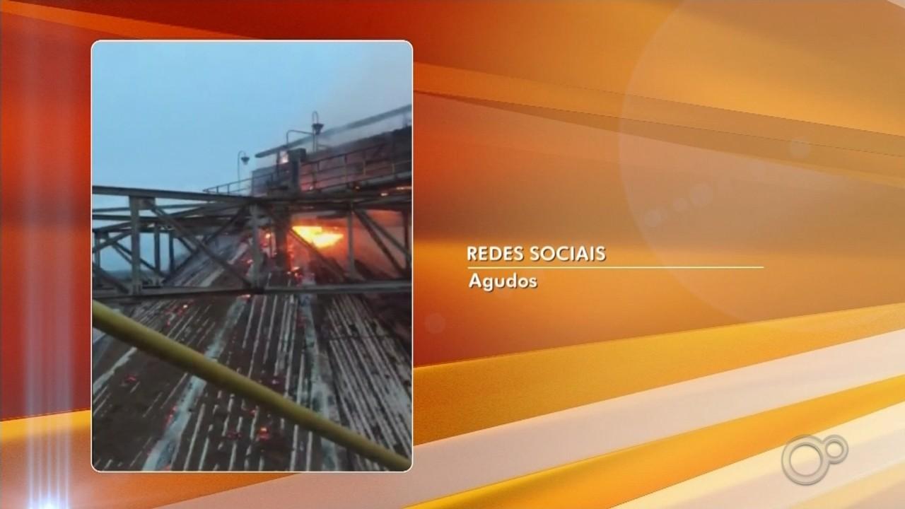 Incêndio atinge fábrica da Duratex em Agudos