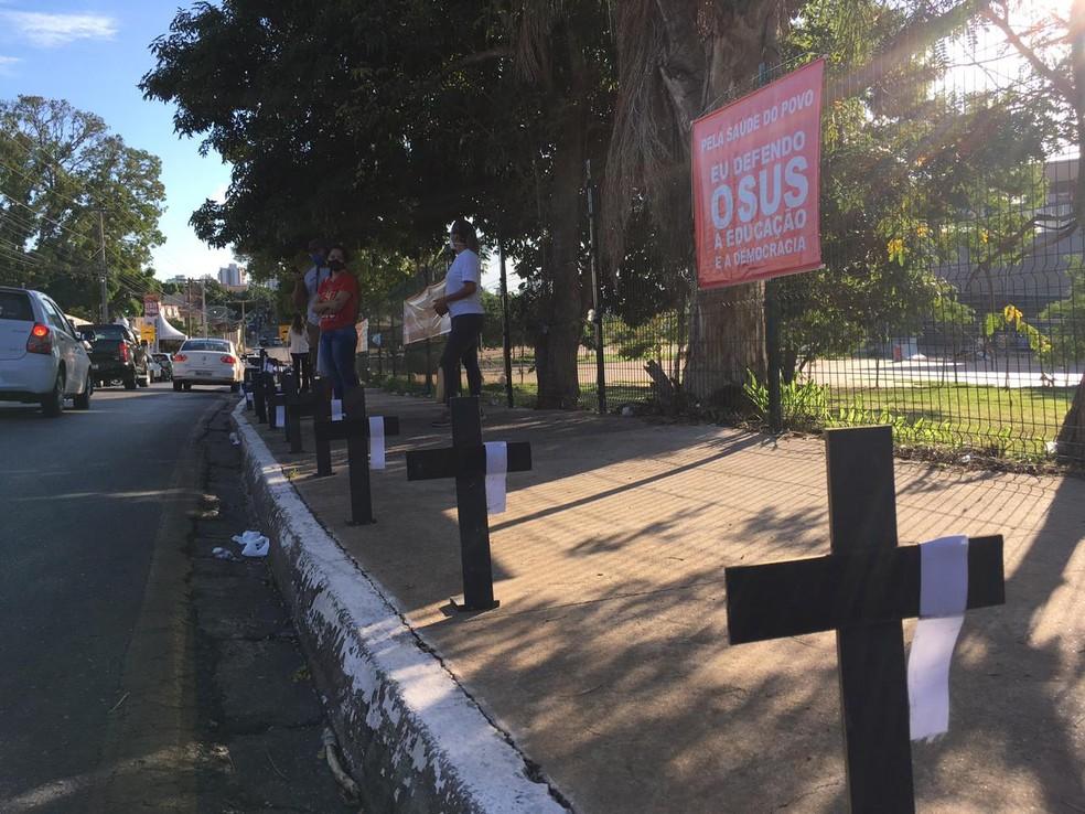 Manifestação terminou no final da manhã. — Foto: DIVULGAÇÃO