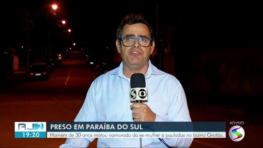 Homem é preso depois de matar namorado da ex a pauladas em Paraíba do Sul