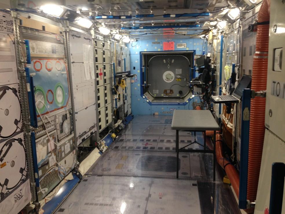 Módulo de treinamento dos astronautas da Nasa (Foto: Andrea Cavalheiro e Filipe Cury)