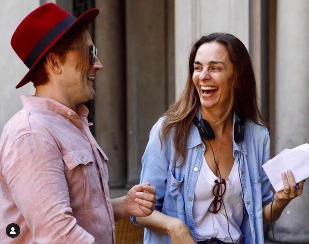 """Paulo Gustavo e Susana Garcia: ela o dirigiu em """"Minha mãe é uma peça 3"""" — Foto: Reprodução/Redes sociais"""