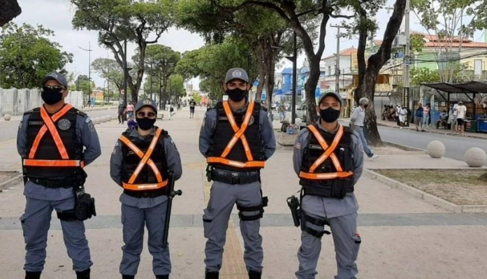Operação Natal Seguro reforça segurança em centros comerciais de São Luís — Foto: Divulgação/SSP